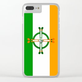 Hurley and Ball Celtic Cross Design Clear iPhone Case