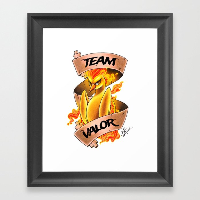 Team Valor Framed Art Print by jacklynkirk | Society6