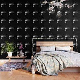 Tardis monochrome doctor who phone booth telephone lights Wallpaper