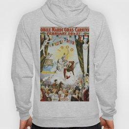 Vintage poster - Mobile Mardi Gras Hoody