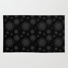 Anti Possession Pattern White Glow Rug