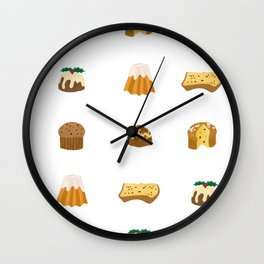 Christmas Cakes Wall Clock