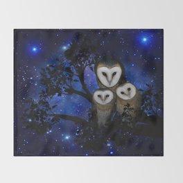 Owl Family Throw Blanket