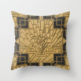 Glamour & Bloom Throw Pillow