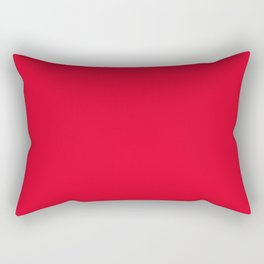 Juicy Red Apple - Solid Color - Mix and Match Rectangular Pillow
