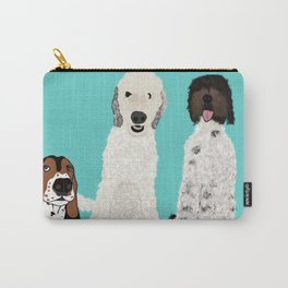 A Dog Mom's 3 Babes Carry-All Pouch