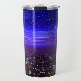 Spaceport Sunset Travel Mug