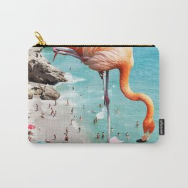 Flamingos on the Beach #society6 #decor #buyart Carry-All Pouch