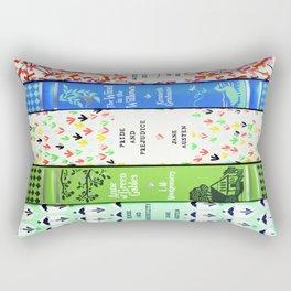Pretty Book Stack - Part 1 Rectangular Pillow