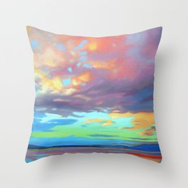 Sky Opus by Amanda Martinson Throw Pillow