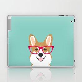 Teagan Glasses Corgi cute puppy welsh corgi gifts for dog lovers and pet owners love corgi puppies Laptop & iPad Skin