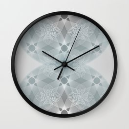Colliding Circles in Teal and Grey Wall Clock