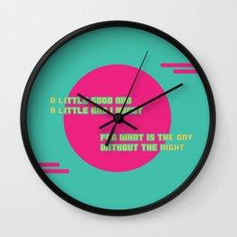 A LITTLE BAD Wall Clock