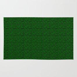Binary Green Rug