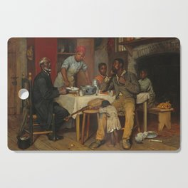 A Pastoral Visit, by Richard Norris Brooke, 1881 . An African American family Cutting Board