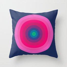 Blue/Pink Bullseye Throw Pillow