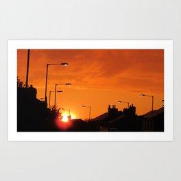 highlighter orange sky Art Print