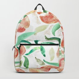 Watercolor Peaches Backpack