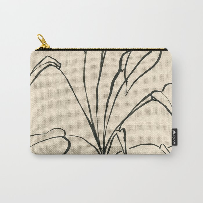 Line drawing leaves Carry-All Pouch