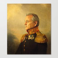 lady gaga Canvas Prints featuring Bill Murray - replaceface by replaceface