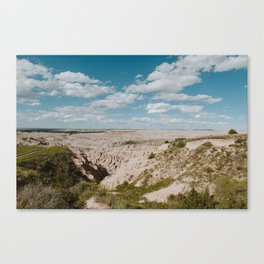 Red Shirt Table - Badlands National Park Canvas Print