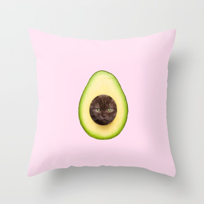 AvoCATo Throw Pillow