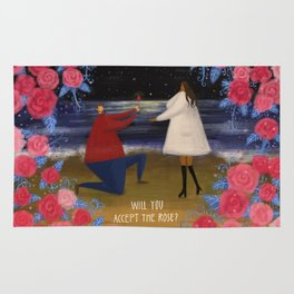 Will you accept the rose? Rug