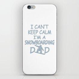 I'M A SNOWBOARDING DAD iPhone Skin