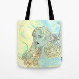 Lady Green Tote Bag