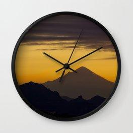 Popocatepetl Dawn Wall Clock
