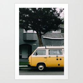vintage bus i Art Print