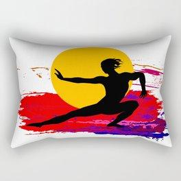 Martial art, karate, judo, aikido, self defence Rectangular Pillow