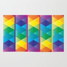 Rainbow Cube Rug