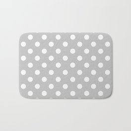 Polka Dots (White & Gray Pattern) Bath Mat