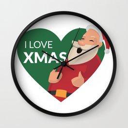 I Love XMAS Wall Clock