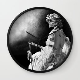 Lady Skeleton Wall Clock