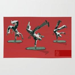 Little capoeira plastic dudes Rug