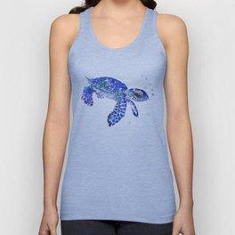 Cute Blue Baby Sea Turtle Unisex Tank Top