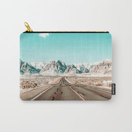 Vintage Desert Road // Winter Storm Red Rock Canyon Las Vegas Nature Scenery View Carry-All Pouch