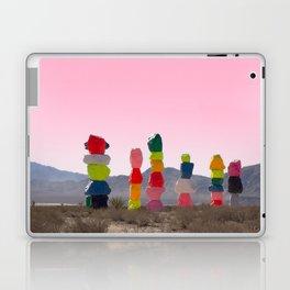 Seven Magic Mountains with Pink Sky - Las Vegas Laptop & iPad Skin