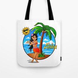 Hawaiian Girl Aloha Tote Bag