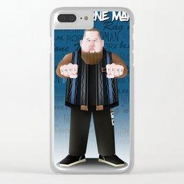 Rag'N'Bone Man caricature Clear iPhone Case