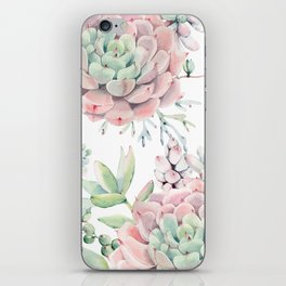 Pink Succulents by Nature Magick iPhone Skin