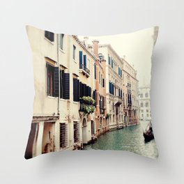 Venetian Canal Throw Pillow