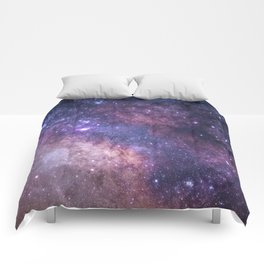 Purple Galaxy Star Travel Comforters
