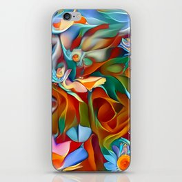 Psychedelic Daises iPhone Skin