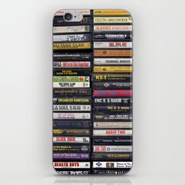 Old 80's & 90's Hip Hop Tapes iPhone Skin