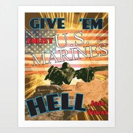 Marines 1 Art Print