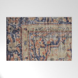 Vintage Woven Blue Welcome Mat