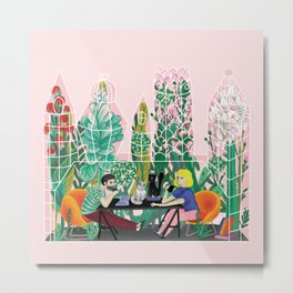 Take a coffee in the botanical garden Metal Print